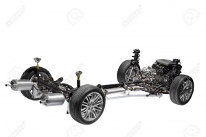 12695757-Car-chassis-with-engine-Image-of-car-chassis-with-engine-isolated--Stock-Photo